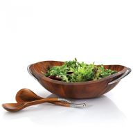 BRAID SALAD BOWL W/SERVERS